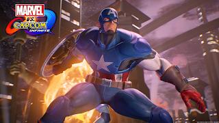 Marvel vs Capcom Captain America Wallpaper