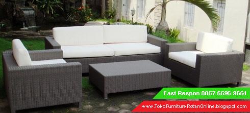 Jual Furniture Rotan Sintetis Pabrik Sofa Mebel Kursi Tamu Toko