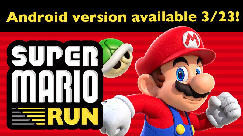 Super Mario Run Android Release Date Announced.