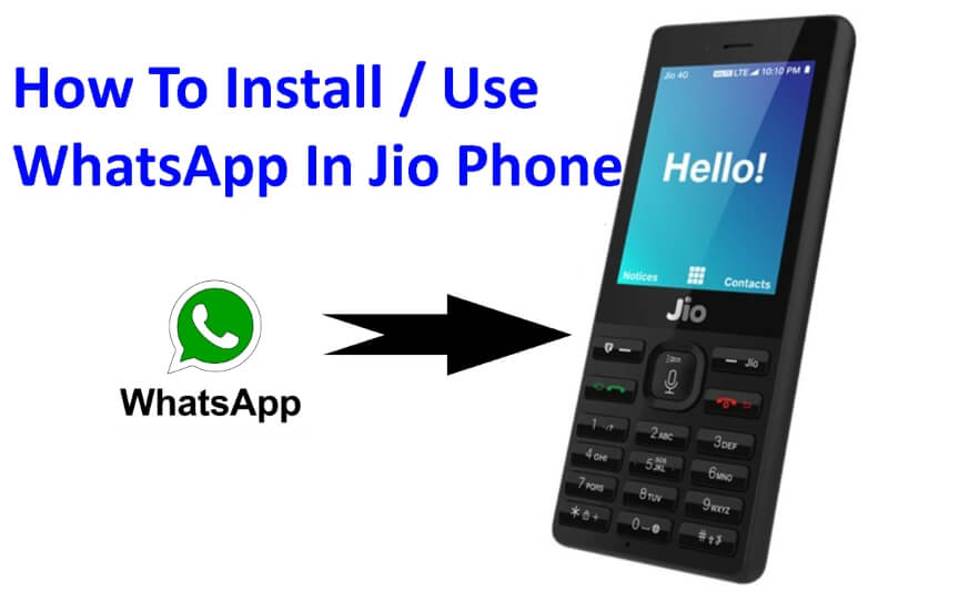 install whatsapp in jio mobile phone