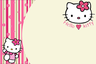 Hello Kitty with Flowers: Free Printable Invitations. | Is it for ...