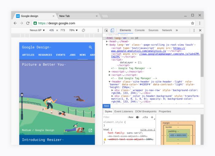 Google Chrome Material Design 2