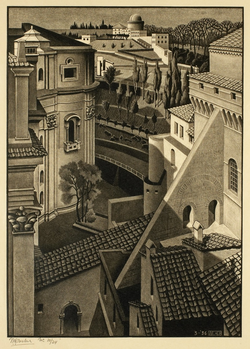 Spencer alley nocturnal rome for Mc escher gallery