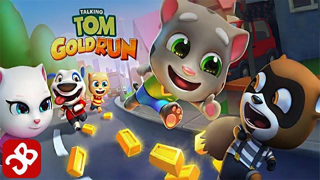 تحميل لعبة Talking Tom Gold Run v1.0.12 مهكرة للاندرويد
