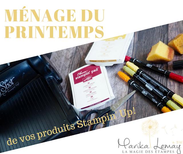 bannière ménage du printemps de nos produits Stampin' Up!
