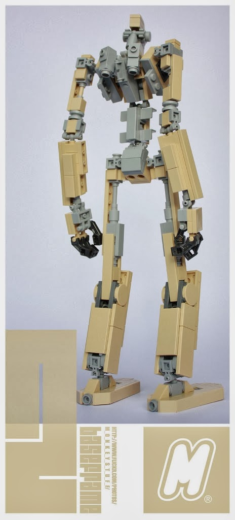 Felix Ip。蟻速畫行 Poseable Lego Mech With Instructions