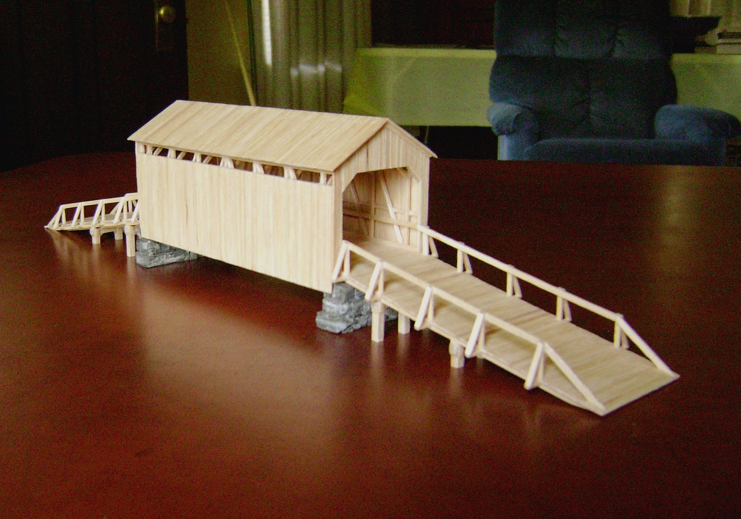 Old West Toothpick Town Covered Bridge