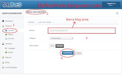 Langkah cara daftar di Popcash.net 2