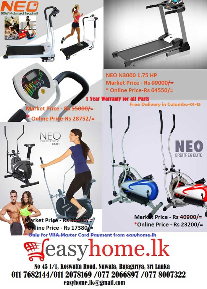 NEO - Motorized Treadmill, Orbitrek, Orbitrek Elite.