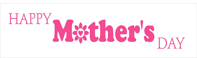 Happy Mother's Day in pink stylized lettering