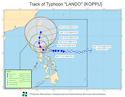 Update on Typhoon Lando (Koppu)