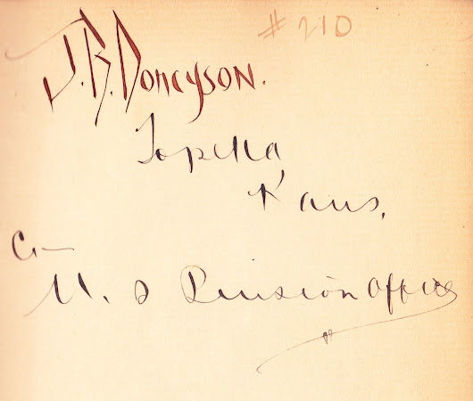 Signature of J.B. Doncyson, artist