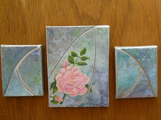 painting triptych 'Ode to a Rose' Lillian Austin rose