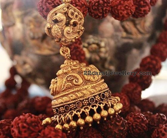 Temple Jewelry Large Jhumkas