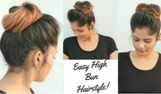 How to Make High Messy Bun (updo) for thin Hair | Easy Trick to make Voluminous Bun