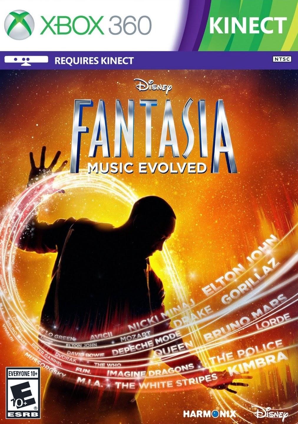 Disney Fantasia Music Evolved XBOX 360 Cover Caratula