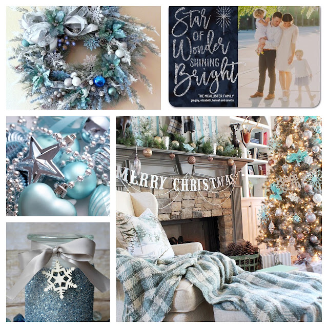 Inspiration Board 50 Cordier Events Blue Christmas