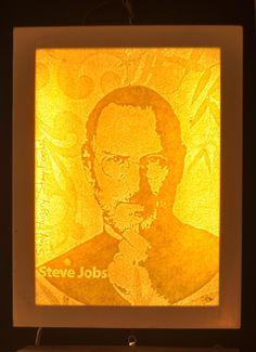 Tranh trúc chỉ chân dung Steve Job