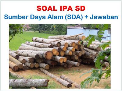 Soal IPA SD tentang sumber daya alam dan jawabannya 40 Soal IPA Sumber Daya Alam (SDA) dan Jawabannya, BARU