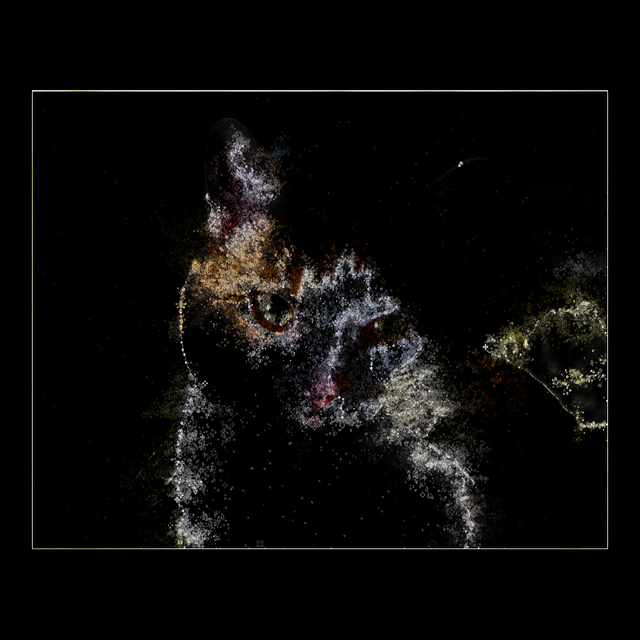 I tried to make Milky Way from cats photo with this Processing code.