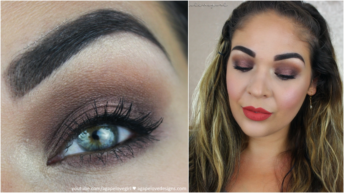 Agape love designs chocolate brown smokey eye full face makeup chocolate brown smokey eye full face makeup tutorial baditri Image collections