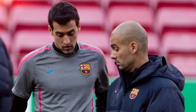 Busquets Tolak Kemungkinan Reuni Dengan Guardiola Di Manchester City