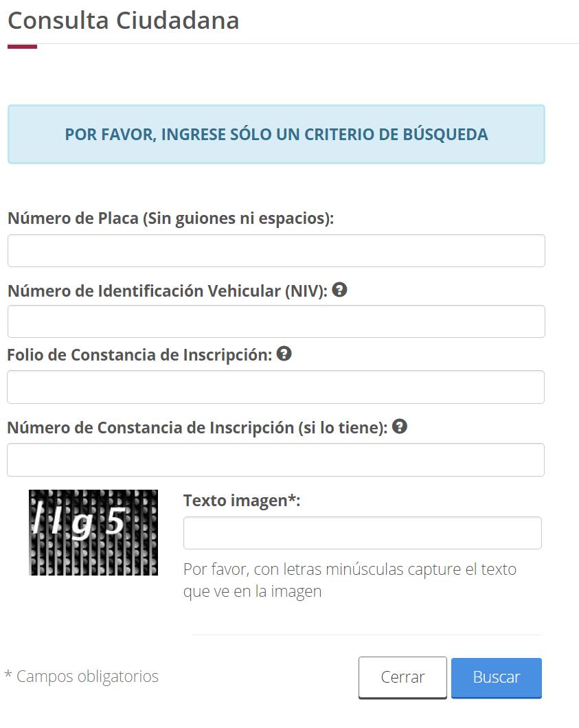 REPUVE consulta gratis en linea placas de autos robados