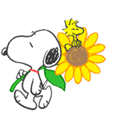 Sweet Summer Snoopy Animated Stickers