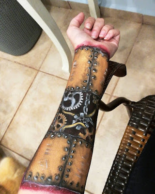 steampunk makeup how to DIY face paint and body paint