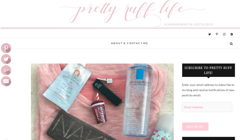 bbloggers, bbloggersca, canadian beauty bloggers, botm, blog of the month, featured blogger, lifestyle blog, pretty ruff life