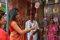 Sakshi Agarwal  in Orange Saree at Inauguration of Handloom And Handicraft exhibition ~  Exclusive 30.JPG