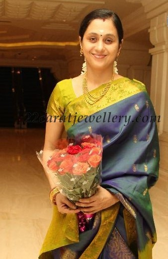 devayani gold set at sneha wedding jewellery designs