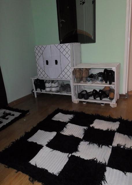 Szafka na buty ze skrzynki DIY // Shoe cabinet DIY