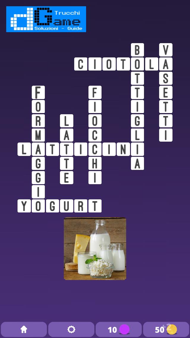 Soluzioni One Clue Crossword livello 1 schema 12 (Cruciverba illustrato)  | Parole e foto