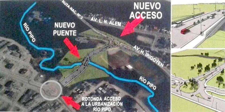 Nuevo acceso al barrio Pipo