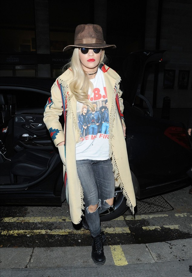 celen news Rita Ora Out In London