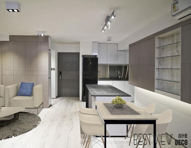 康怡花園客廳室內設計,Kornhill living room design