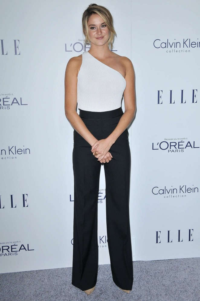 Shailene Woodley is monochrome chic at the Elle Women in Hollywood Awards