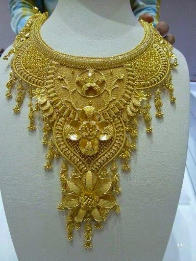 Beautiful & Latest Gold Necklace Design 2014