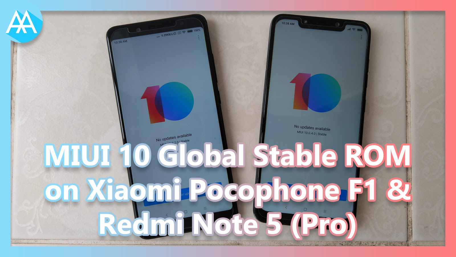 MIUI 10 Global Stable ROM on Xiaomi Pocophone F1 and Redmi