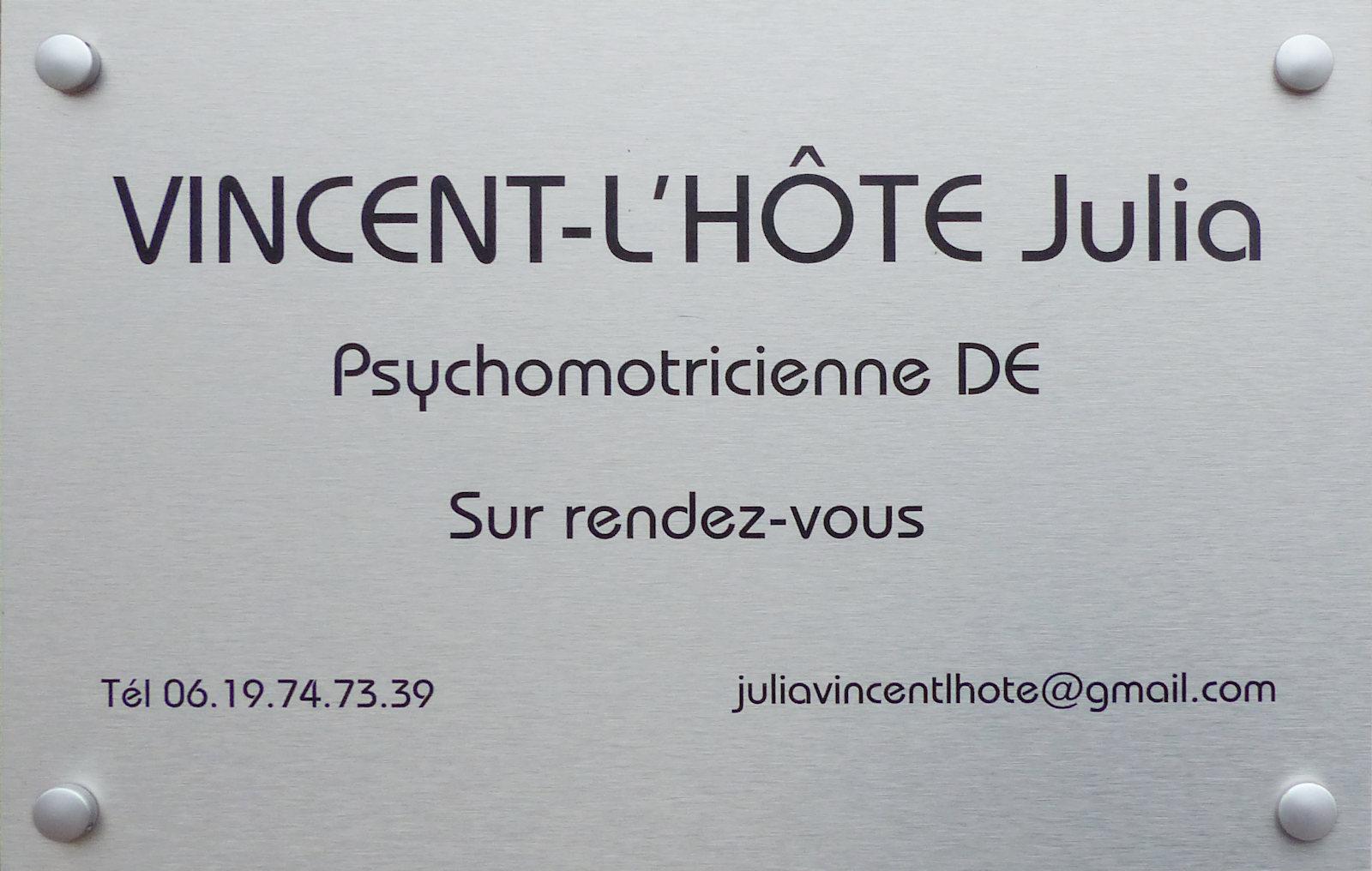 Psychomotricienne Julia Vincent-l'Hôte - Tourcoing.