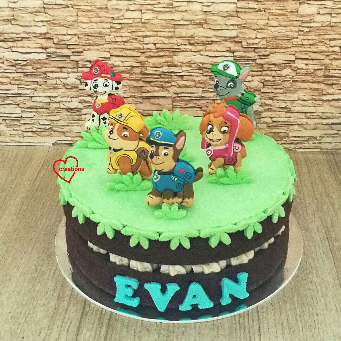 loving creations for you paw patrol chocolate cake with