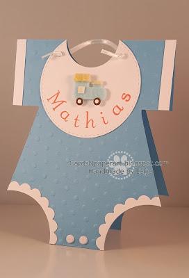 baby card onsie