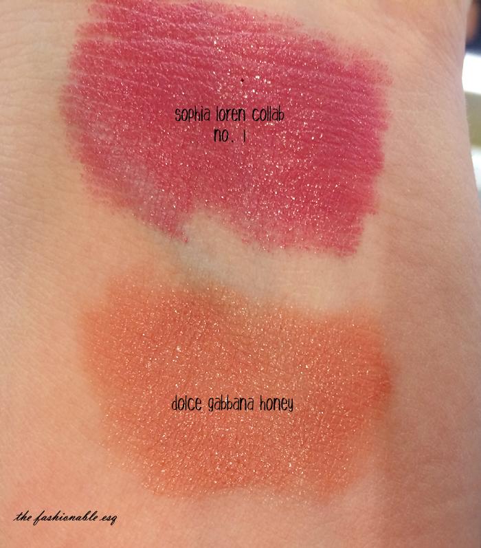 D&G Lipstick Swatch in Honey