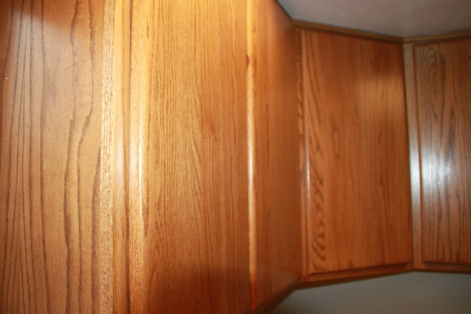 Also The Little Cutouts In The Cabinet Doors Were The Way We Opened The  Doors And Drawers. Although They Worked, We Knew Knobs And Pulls Would ...
