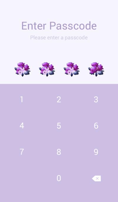 Unusual purple rose