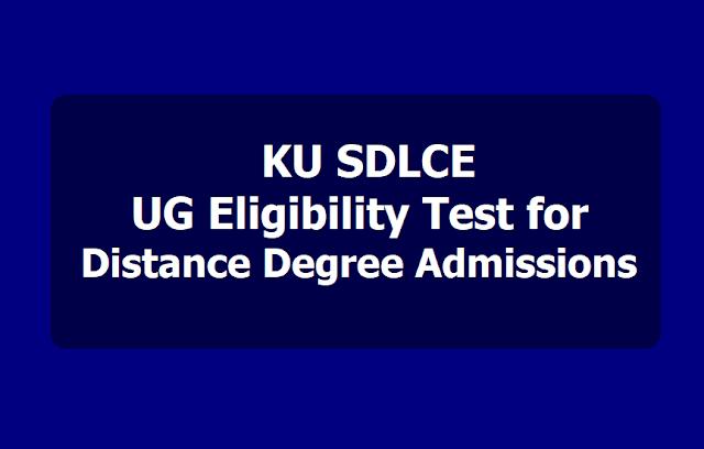 KU SDLCE UG Eligibility Test