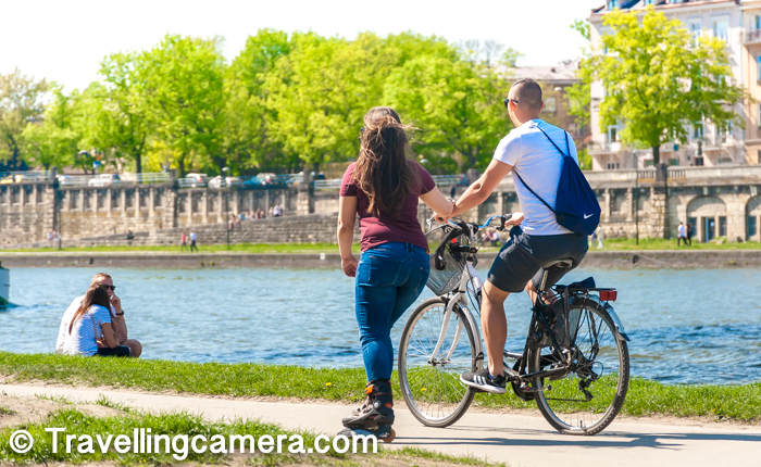 There are beautiful pathways around the river where folks like coming with their bikes, skates and friends. Lot of folks were walking or running around the river. Weather in the month of April was just right. Although Krakow was little hot in comparison to Warsaw, but it was bearable.     If you like Biking, click here to know more about Biking and how it makes life more happening.