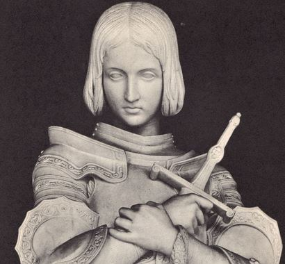 joan of arc marble statue