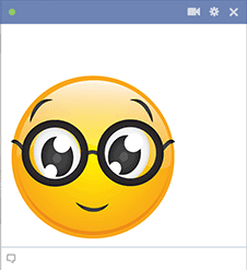 Facebook Smiley with Glasses